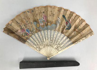 L'attelage, vers 1760-1770  Éventail plié,...