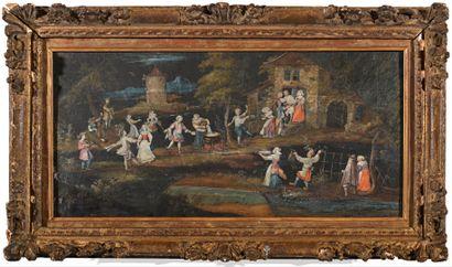 Réjouissances villageoises, vers 1680  Feuille...