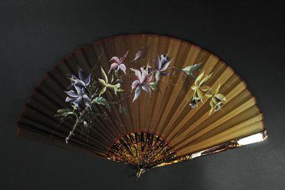 Orchidées, vers 1890  Grand éventail, la...