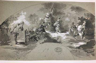 L'heureuse cueillette, vers 1890  Dessin...