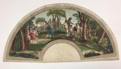 L'histoire de Don Quichotte, vers 1790  Feuille...