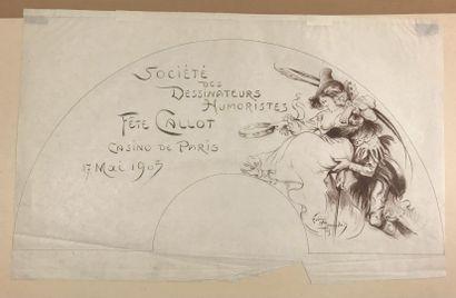 La fête Callot, vers 1905  Deux feuilles...