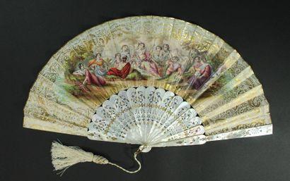 La balançoire de Flore, vers 1860  Éventail...