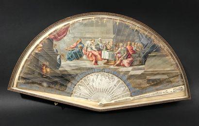 Le banquet antique, vers 1790-1800  Éventail...