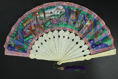 Audiences au palais, Chine, XIXe siècle...