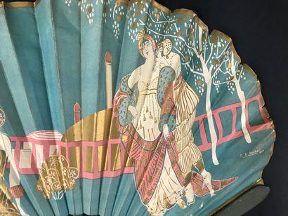 Weber- Ledoyen-Café de la Paix, vers 1913  Éventail publicitaire, la feuille en...