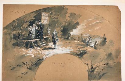 Somnambule extralucide, vers 1890  Dessin...