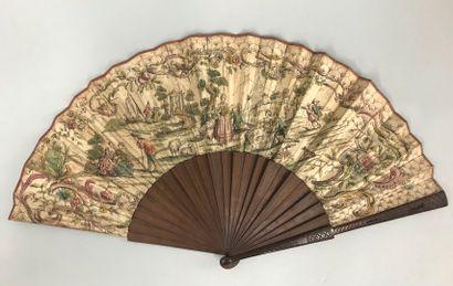 Marivaudage champêtre, vers 1730-1740  Rare...