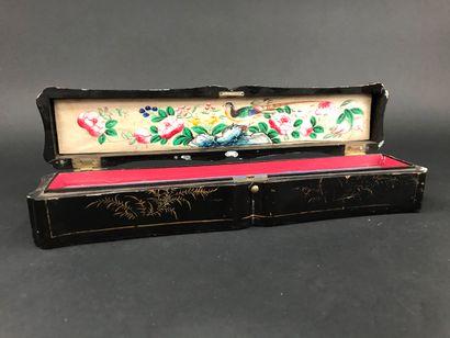 Coffret à éventail, Chine, XIXe siècle  En...