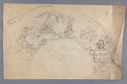 Présentation à Vénus, vers 1880  Dessin au...