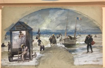 Les joies du bord de mer, fin XIXe siècle...
