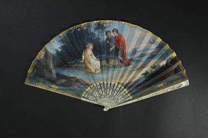 Scène antique, vers 1790-1800 Éventail plié,...