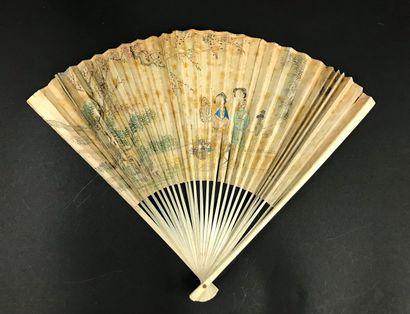 Les deux courtisanes, Chine, XIXe siècle...