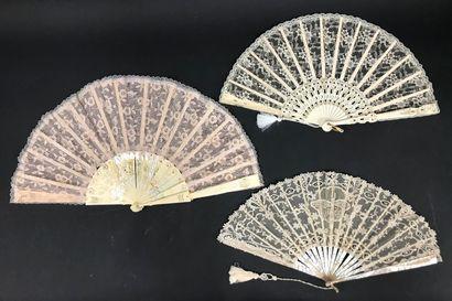 Cinq éventails, vers 1890-1900  Éventails...