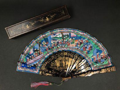 Assemblée des 50, Chine, XIXe siècle Éventail...