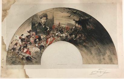 Pour le monument à Gavarni, vers 1905  Ensemble...