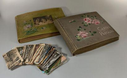 Deux albums de cartes postales, CPA (majoritairement...