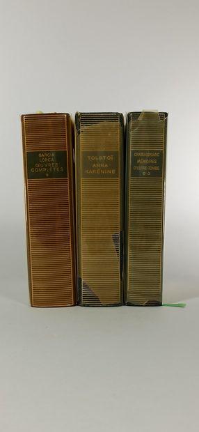 BIBLIOTHEQUE DE LA PLEIADE  3 vol. :  LORCA...