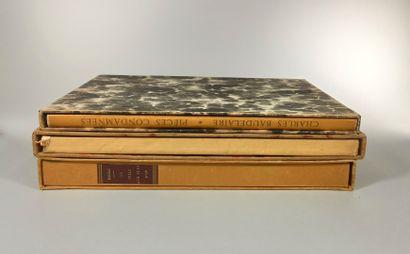 Trois ouvrages sous boîtages :  BAUDELAIRE...