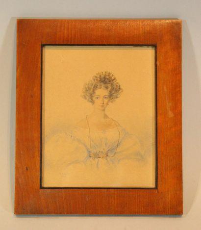 BLAIZE Candide (1795-1855)  Jeune femme en...