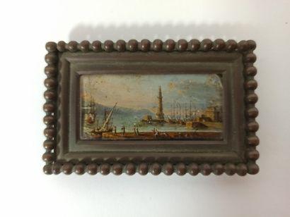 Ecole du XVIIIème siècle  Port animé de pêcheurs...