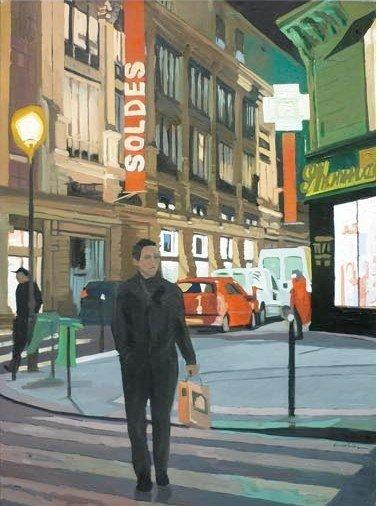 Soldes, 2010 Huile sur toile, signée en bas...