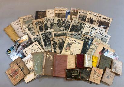 Guerre 1914-1918  Fort lot de livres brochés...