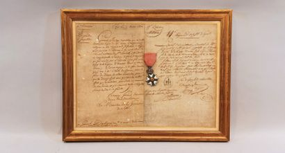 Second Empire Legion of Honour framed with...