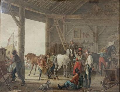 VINKELES, Johannes (?-c.1814)    The stable...