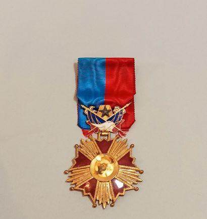 Commander's cross, in gilt metal with fifteen...