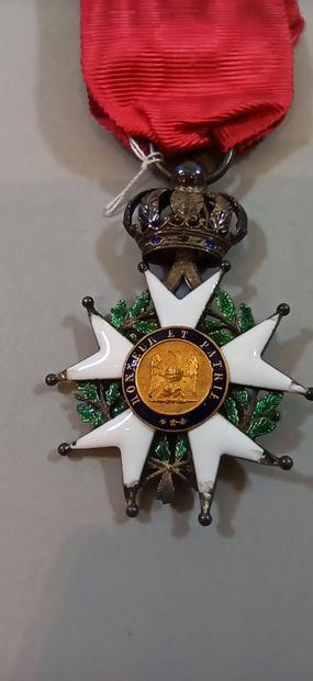 Croix de Chevalier de la Légion d'Honneur.  Argent. Ruban .  Epoque Présidence  Poinçon...