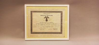 4 brevets de la Médaille Militaire remis:...