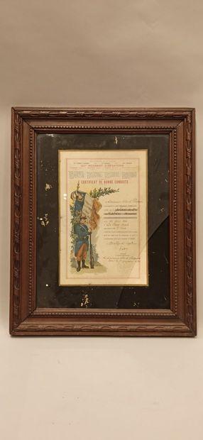Lot de documents début XXe: Citation à l'ordre...