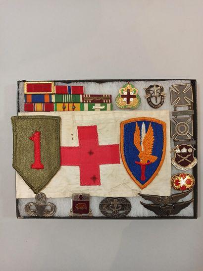 Souvenirs d'un soldat de l'US Army : 2 patchs...