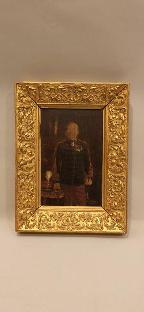 Ecole Française du XIXème siècle,  Portrait d'un officier portant la légion d'honneur...