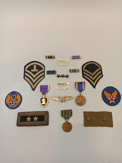 Ensemble de décorations et de patchs de l'US...