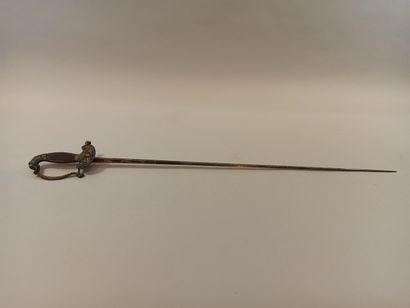 Epée d'uniforme.  Garde en bronze à 1 branche,...