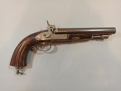 Pistolet de vénerie à double canon en table...