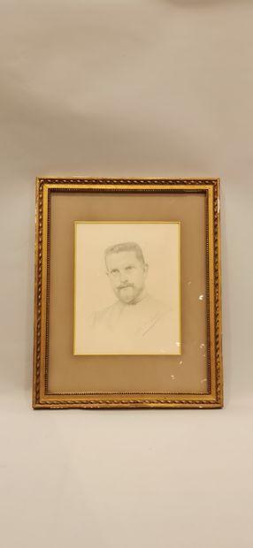3 pencil drawings:  - P. de COURTIVRON,