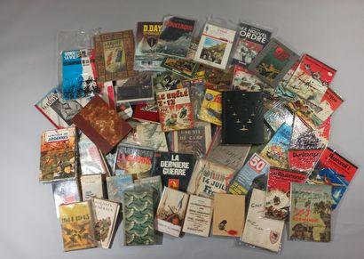 Guerre 1939-1945  Fort lot de livres reliés,...