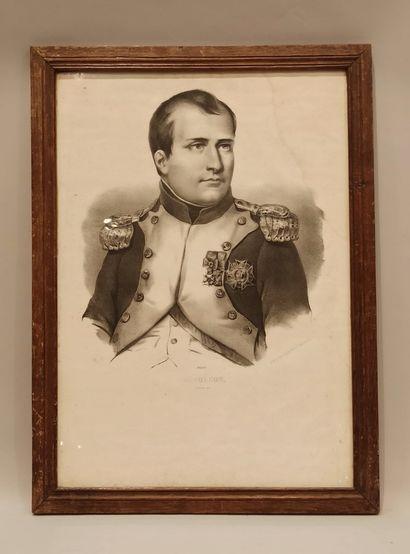 """""""Napoléon, Maréchal Mac-Mahon, Louis-Philippe Ier..."""" lot de 7 gravures en noir..."""