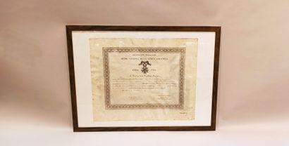 3 brevets de chevalier de la Légion d'Honneur...