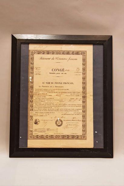 Lot de 4 documents du XVIII et XIXème siècle:...