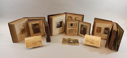 lot of 5 photo albums with some military...