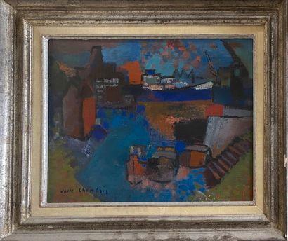 CHAMBRIN Jack, 1919-1983  Petit port, 1964...