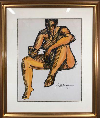 ESPINASSE Raymond, 1897-1985  Nu assis, 1961...