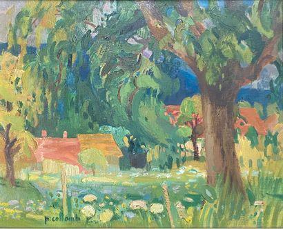 COLLOMB Paul, 1921-2010  Paysage d'été  huile...