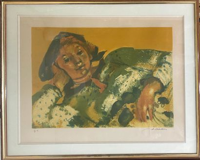 FONTANAROSA Lucien Joseph, 1912-1975  Arlequin...