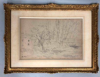 DUFY Jean, 1888-1964  Ferme et mare aux canards...