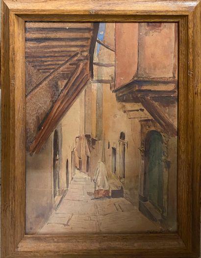 BRÈS Félix, FIN XIXe siècle,  Ruelle orientale,...